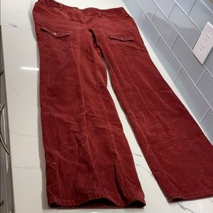 Ann Taylor LOFT red corduroyed pants
